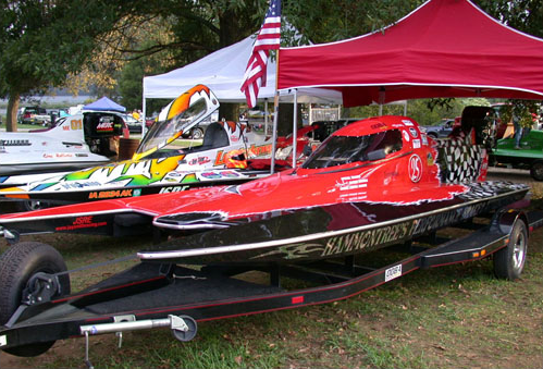 Therl Howard, John Lentzkow, and Richard Hammontree Racing Boats